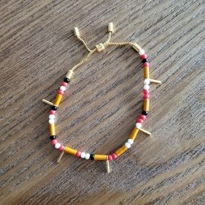 Madewell Adjustable Beaded Bracelet NEW